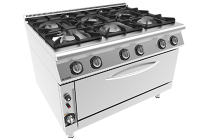 6 Burner gas range with oven