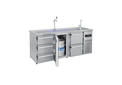 Beer & Keg cooler with sink unit