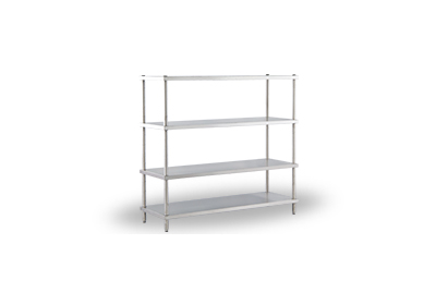 Solid shelf rack