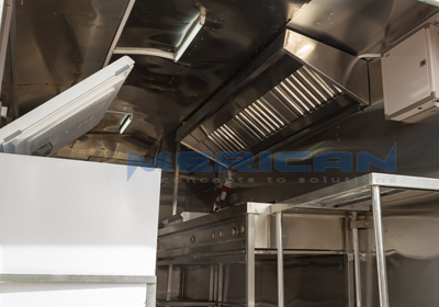 Trailer kitchen hood