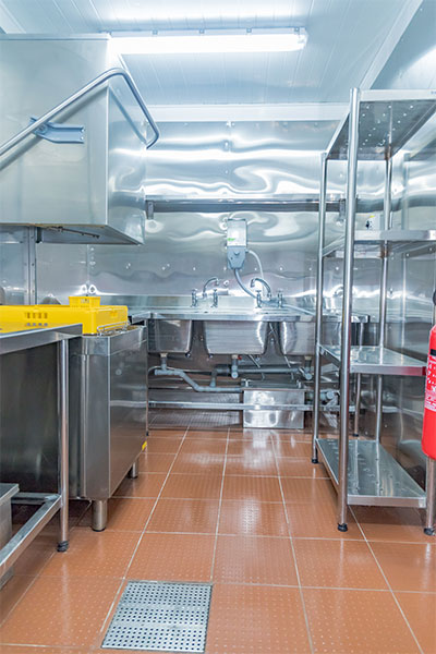Stainless steel kitchen equipment by Merican Limited